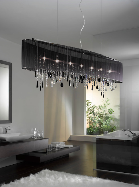 Black crystal Salon moderne par The Lighting Store Moderne