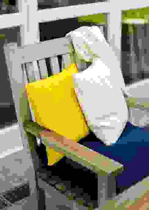 Valerie - Zopfkissen in Gelb und Weiß Lenz & Leif WohnzimmerAccessoires und Dekoration