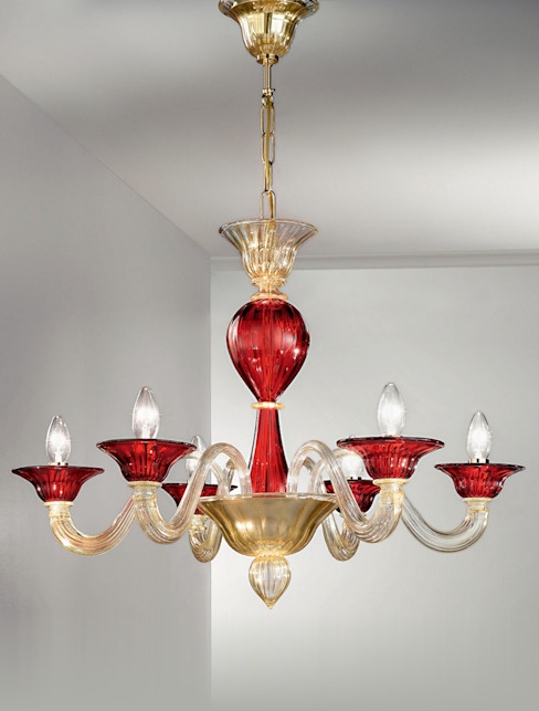 Lampadario in vetro di Murano Vetrilamp Vetrilamp ArteAltri oggetti d'arte