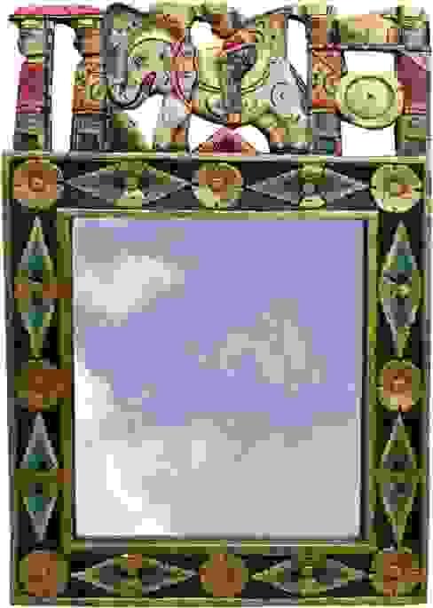Exotisches Vintage - Spiegel fürs Bad von Guru-Shop Asiatisch