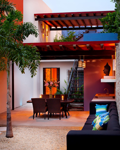 Mediterrane balkons, veranda's en terrassen van Taller Estilo Arquitectura Mediterraan