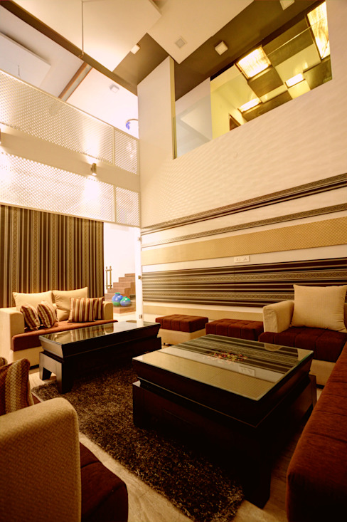 Living Room Modern houses by Studio An-V-Thot Architects Pvt. Ltd. Modern