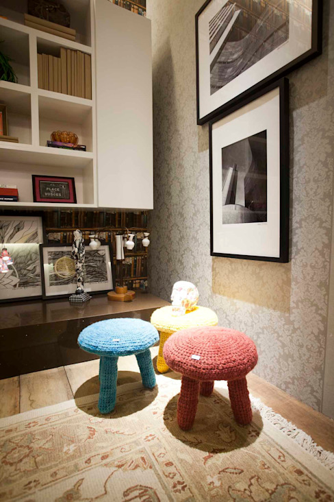 Salas de estilo rústico de Orlane Santos Arquitetura Rústico