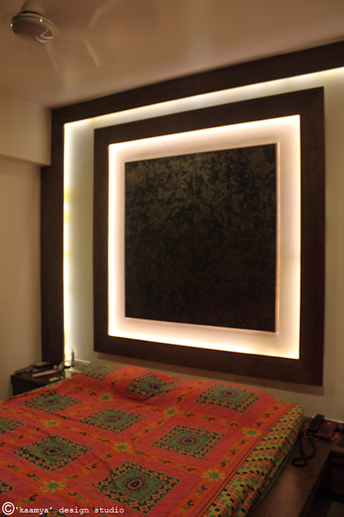 Son's bedroom_wall panelling: modern  by kaamya design studio,Modern