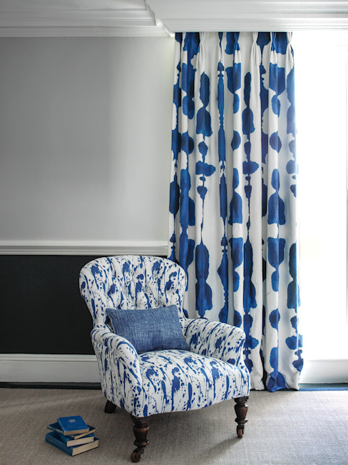 Inkat Ink blue and Splatter Ink Blue Korla Home HouseholdTextiles