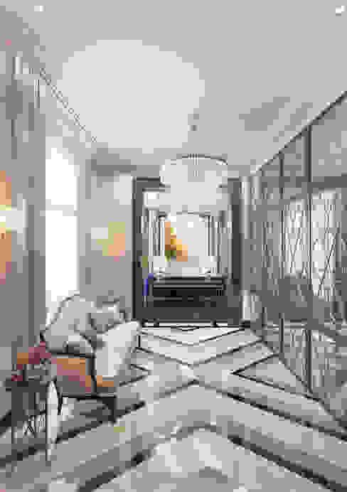 Апартаменты TriBeCa в стилистике Ар Деко Коридор, прихожая и лестница в классическом стиле от Anna Clark Interiors Классический