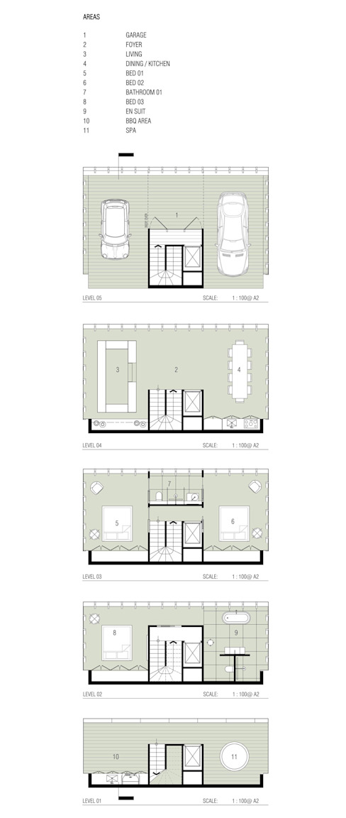 Cliff House by Modscape Concept floorplans par Modscape Holdings Pty Ltd