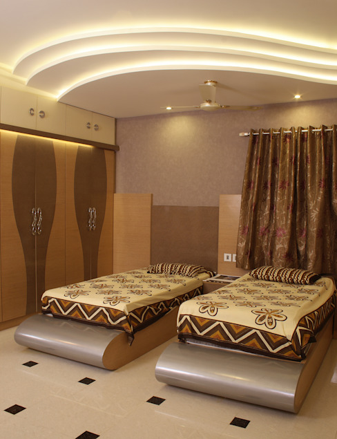 Parents Room Modern style bedroom by Hasta architects Modern