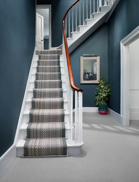 Fabulous colour Diamond Wools of New Zealand Modern corridor, hallway & stairs