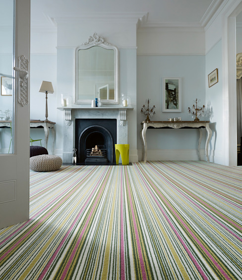 Biscayne Stripe por Wools of New Zealand Moderno