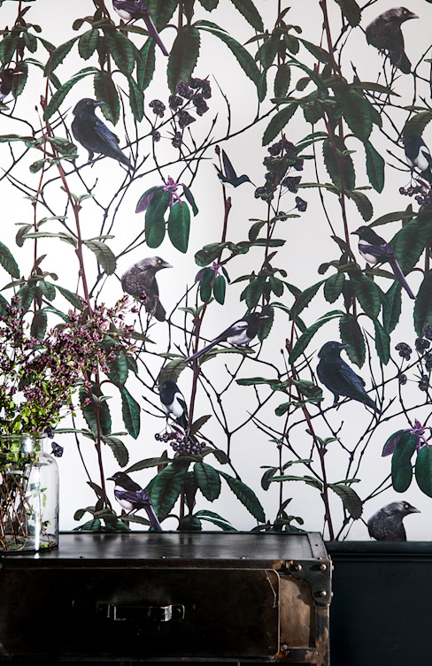 Folia Birds Wallpaper par Witch and Watchman Éclectique