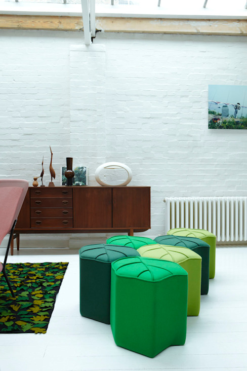 Modular footstools in the shape of a Leaf من design by nico