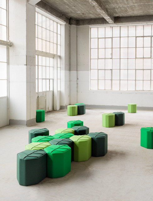 Modular footstools in the shape of a Leaf design by nico Living roomStools & chairs