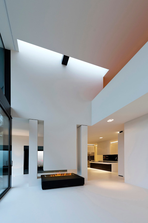 East West Villa:  Woonkamer door 123DV Moderne Villa's, Modern