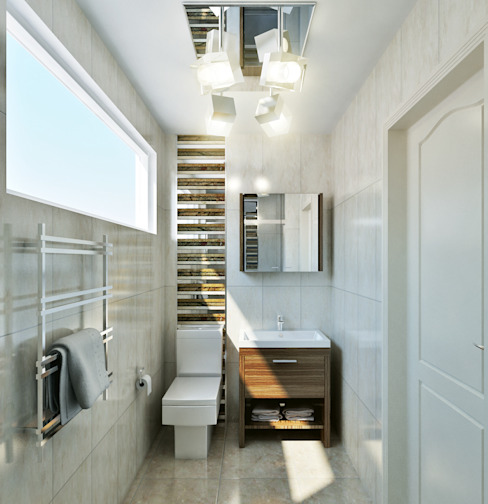 small bathroom Casas de banho por Hampstead Design Hub
