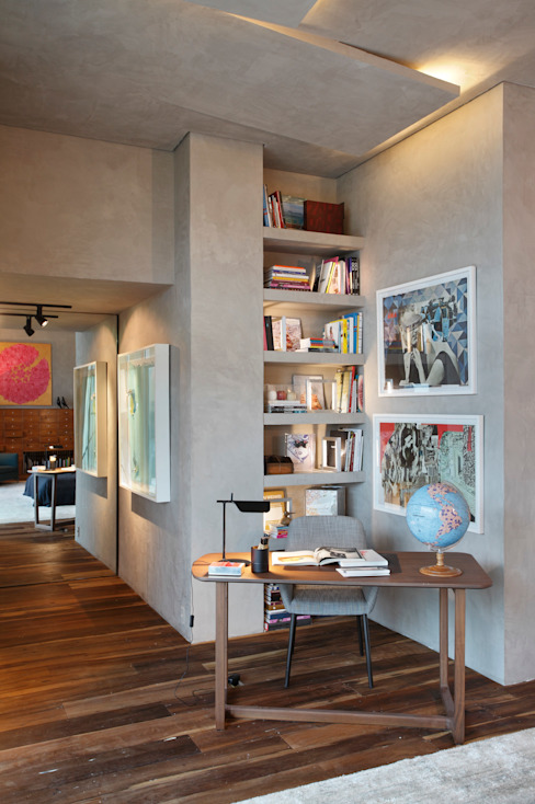 Casa Cor 2013 Modern Study Room and Home Office by Gisele Taranto Arquitetura Modern