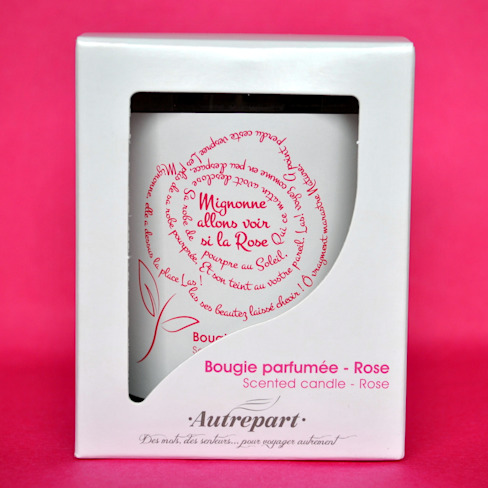 """BOUGIE PARFUMEE """"MIGNONNE ALLONS VOIR SI LA ROSE"""", PARFUM ROSE par AUTREPART Classique"""