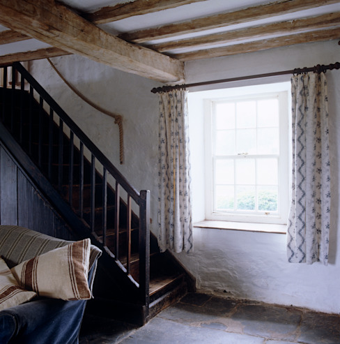 Welsh Farmhouse Corridor, hallway & stairs by Hackett Holland