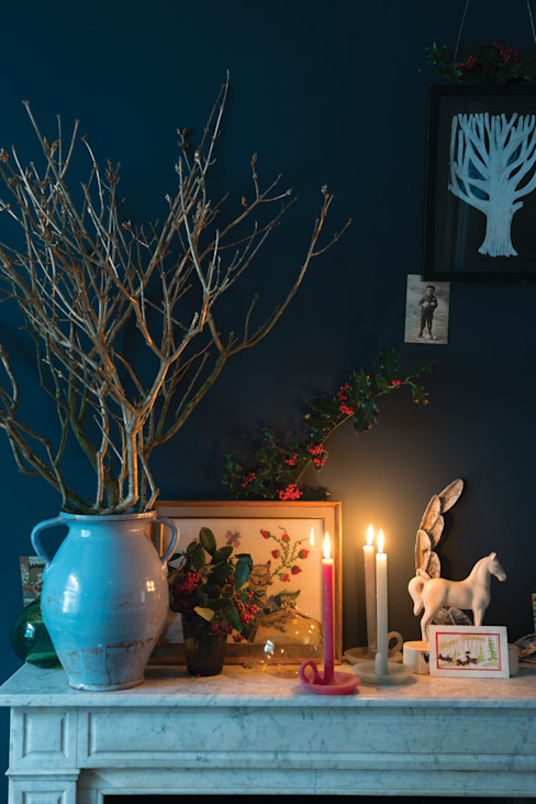 Christmas '14 Farrow & Ball Living roomFireplaces & accessories