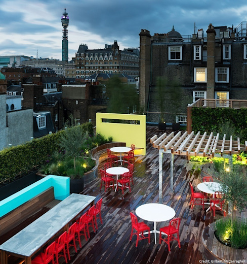 Coca Cola HQ Roof Terrace por Biotecture