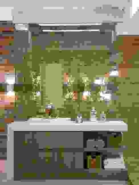 Suíte do Casal de Jornalistas - Casa Cor Santa Catarina 2011 Banheiros modernos por Cristine V. Angelo Boing e Fernanda Carlin da Silva Moderno