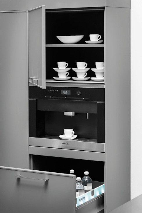 Integrated Coffee Machine par fit Kitchens Moderne