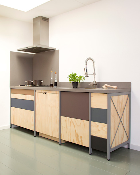 Industrial style kitchen by Studio Mieke Meijer Industrial