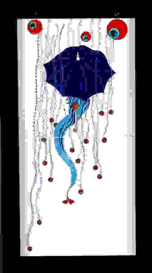 Çiçek Yağmurundan Korunan Şemsiyeli kız 203 Çini ve Seramik Atölyesi