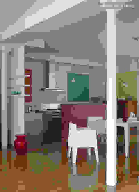 LOFT R - Aménagement d'un plateau à PARIS XI Cuisine industrielle par Agence d'architecture Odile Veillon / ARCHI-V.O Industriel