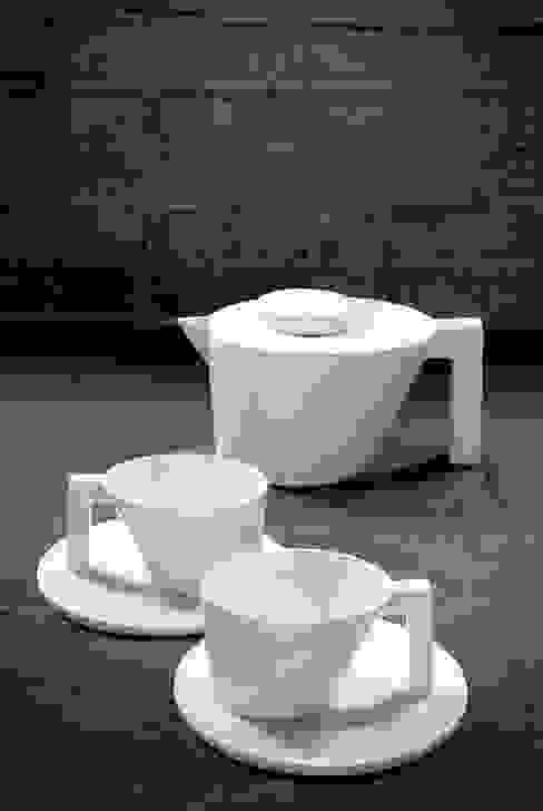 Unify teapot & cups de un'dercast Minimalista