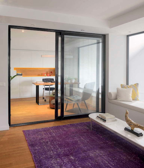 Modern Windows and Doors by HANDE KOKSAL INTERIORS Modern