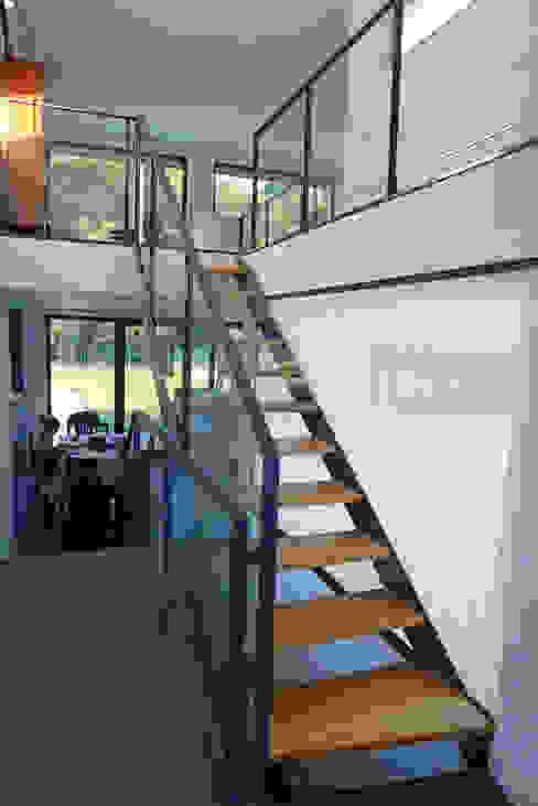 Vivienda en Fornos de AD+ arquitectura Moderno Vidrio