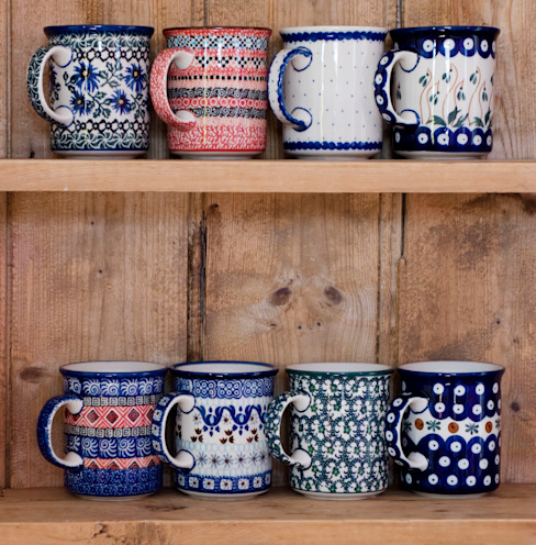 Classic mugs por Blue Dot Pottery Ltd Campestre