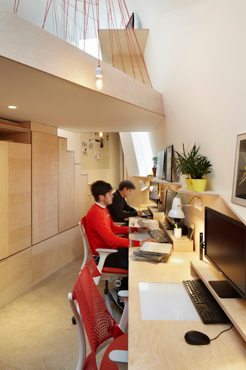 The Green Studio Ruang Studi/Kantor Modern Oleh Fraher and Findlay Modern