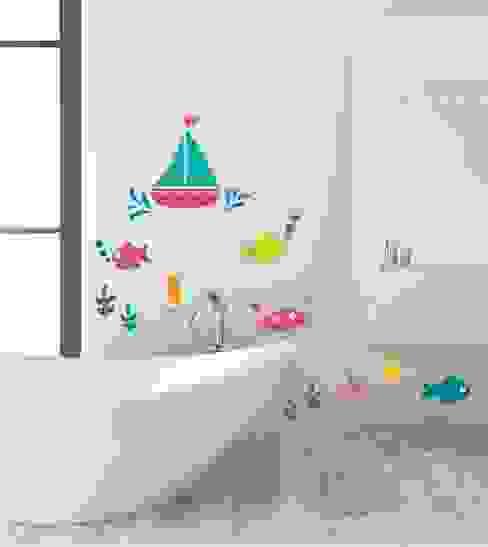 Wandsticker Unterwasser Set: modern  von www.wandtattoo-home.de,Modern