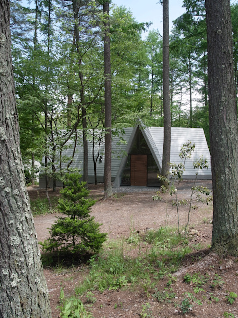 Forest House Casas modernas: Ideas, diseños y decoración de カスヤアーキテクツオフィス(KAO) Moderno