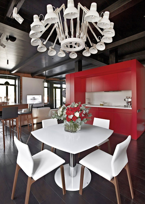 Industrial style dining room by homify Industrial