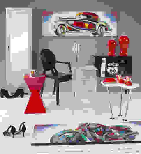 Ambiente rojo y negro Livings de estilo moderno de Actúa Decor Moderno