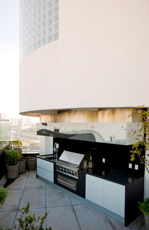 Duplex Cidade Jardim - São Paulo Varandas, marquises e terraços clássicas por Brunete Fraccaroli Arquitetura e Interiores Clássico