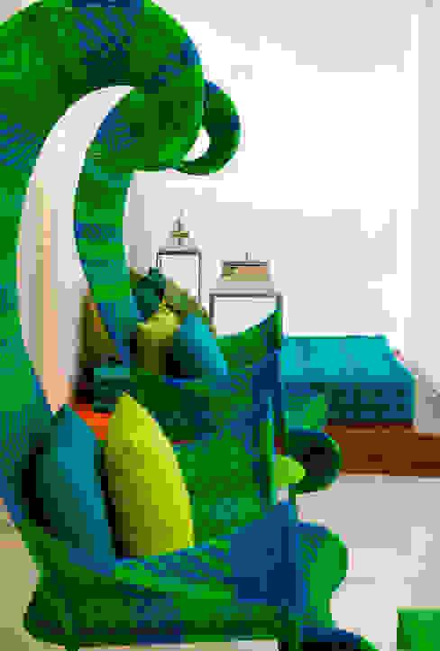 Apartamento Guarujá - São Paulo Salas de estar modernas por Brunete Fraccaroli Arquitetura e Interiores Moderno