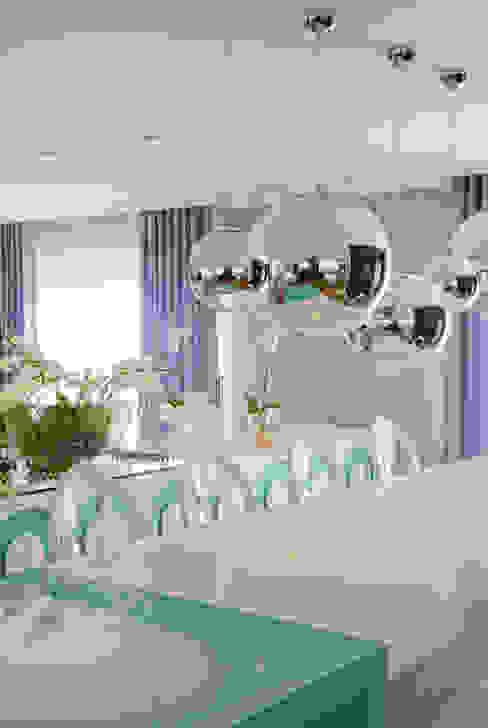 Apartamento Colorido - Depois Salas de jantar modernas por Brunete Fraccaroli Arquitetura e Interiores Moderno