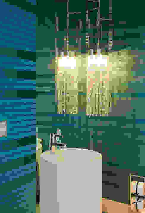 Apartamento Colorido - Depois Banheiros modernos por Brunete Fraccaroli Arquitetura e Interiores Moderno