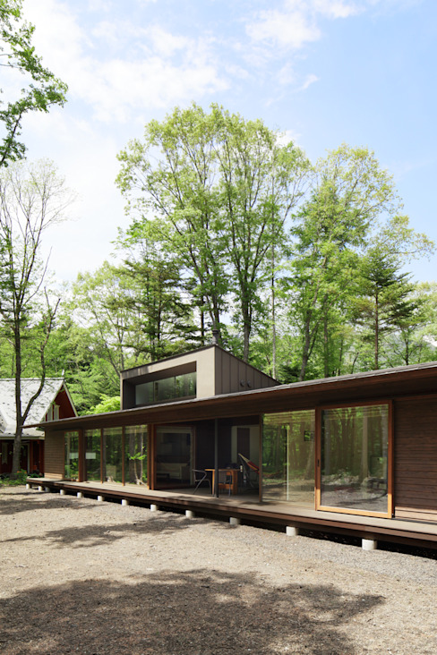 Asian style houses by atelier137 ARCHITECTURAL DESIGN OFFICE Asian Wood Wood effect