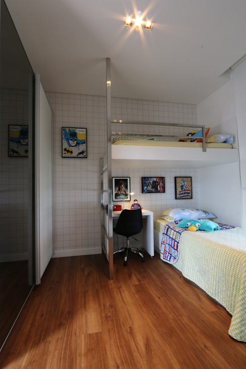 ZAAV-Casa-Interiores-1342 Quarto infantil minimalista por ZAAV Arquitetura Minimalista