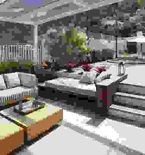 Cobertura Jardim Botânico Varandas, alpendres e terraços modernos por Andréa Menezes & Franklin Iriarte Moderno