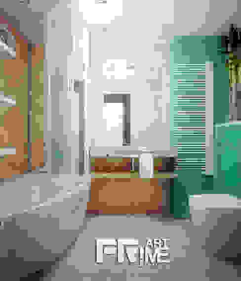 Проект квартиры для молодоженов Ванная комната в тропическом стиле от 'PRimeART' Тропический