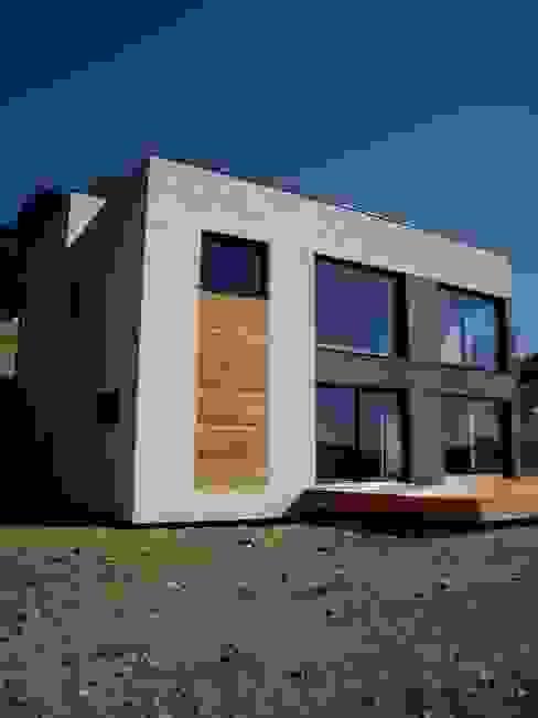 angle nord ouest Maisons minimalistes par Bak'erige Minimaliste