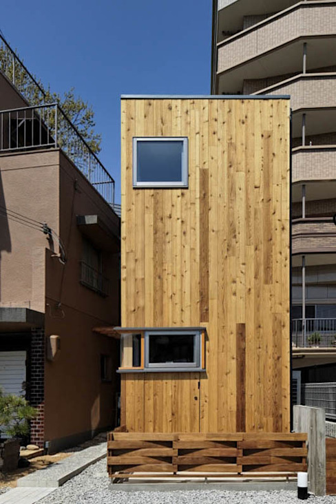 House at Senrioka Eclectic style houses by アトリエ N-size / Atelier N-size Architects Office Eclectic