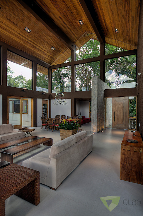 Living room by Olaa Arquitetos, Country
