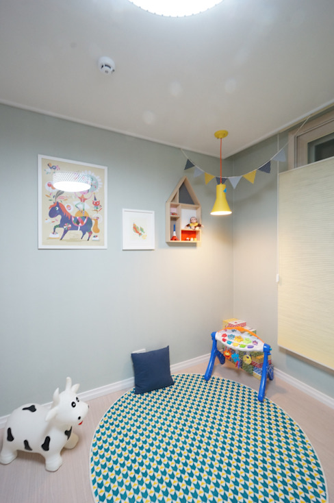 Детская комнатa в скандинавском стиле от 유노디자인 Скандинавский